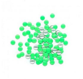 Clous rond thermocollants 'Toga' Vert fluo 8mm x 200
