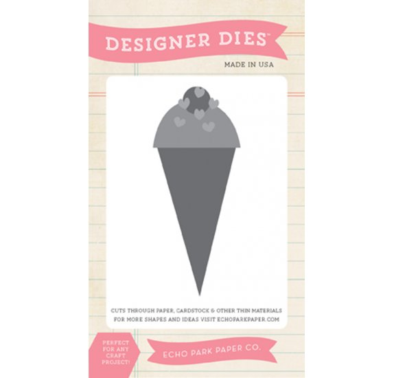 Dies / Matrices de découpe 'Echo Park Paper' Ice Cream Cone