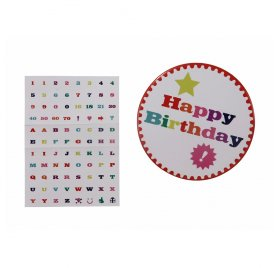 Badge 'Talking Tables' Happy Birthday 10 cm