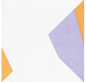 Serviettes Origami 40x40 'Paper Design' Papillon Lilas Vert Orange