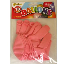 Lot de 10 ballons 'Globos' Rose