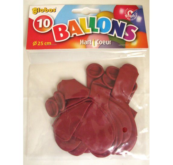 Lot de 25 ballons 'Globos' Rouge Metallic