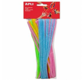 Lot de 50 chenilles assorties 'Apli' 5mmx30cm