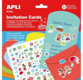 Kit cartes d'invitations 'Apli' Kids