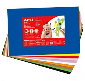 Lot de 10 feuilles de mousse 'Apli' Multicolores