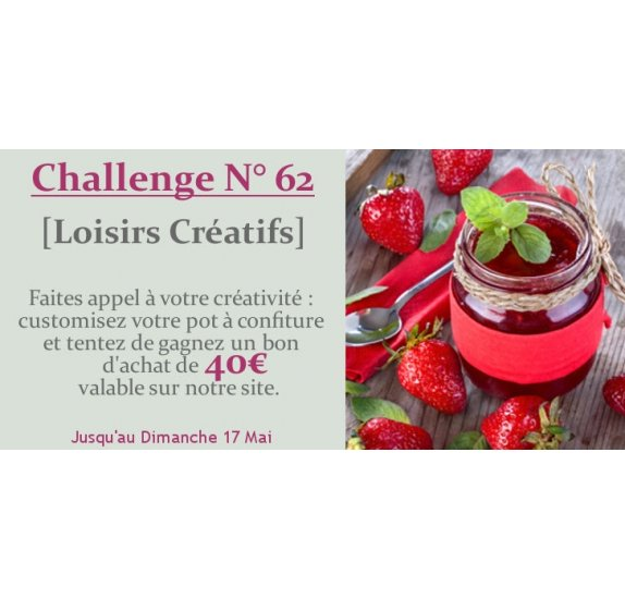Challenge N°62 - Customisez un pot à confiture (clôturé)