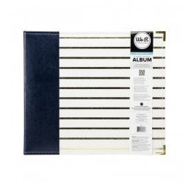 Album 30x30 'We R Memory Keepers' Faux Cuir Navy Gold
