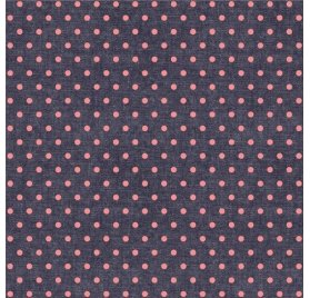 Papier toile 30x30 'We R Memory Keepers - Denim Blues' Pois Roses