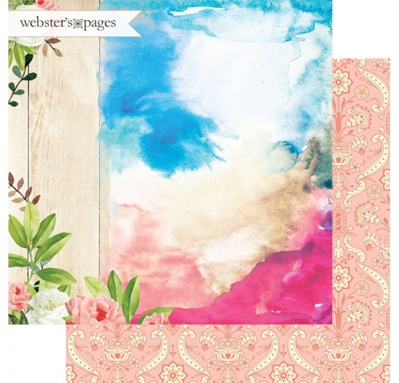 Papier double 30x30 'Webster's Pages - Dream in Color' Dreaming