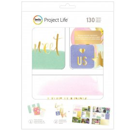 Coffret Cartes et Embellissements 'American Crafts - Project Life' Trinkets Qté 130