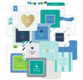 Cartes 10x10 cm Project Life 'American Crafts - Baby Boy Edition' Qté 12