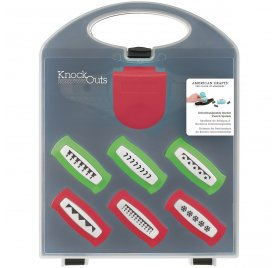 Coffret Perforatrice Bordure 'American Crafts - Knock Outs' Noël 6 modèles interchangeables