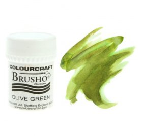Pigment en poudre 'Colourcraft - Brusho' Olive Green 15g