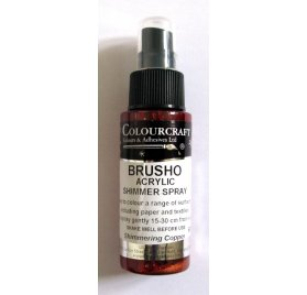 Encre en spray 'Colourcraft - Brusho Shimmer Spray' Cuivre 60ml