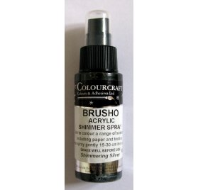 Encre en spray 'Colourcraft - Brusho Shimmer Spray' Argent 60ml