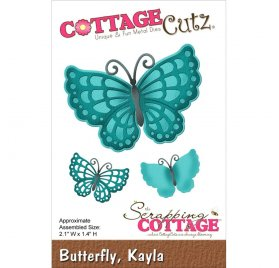 Die/Matrice de découpe 'The Scrapping Cottage - Cottage Cutz' Butterfly Kayla