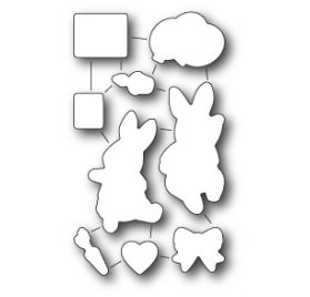 Dies/Matrices de découpe 'Memorybox' Birthday Bunnies