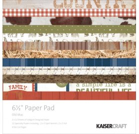 Assortiment 15x15 'Kaisercraft - Old Mac' Qté 36