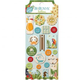 Chipboards Boutons 'BoBunny - Beach Therapy' Qté 21