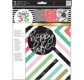 Lot de 3 modèles de couvertures 'Me & My Big Ideas - The Happy Planner' Happy Life