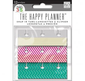 Languettes à clipser 'Me & My Big Ideas - The Happy Planner' Fun Brights Qté 12