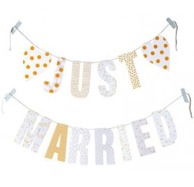 Guirlande en papier 'Rico Design - Paper Poetry'  Just Married