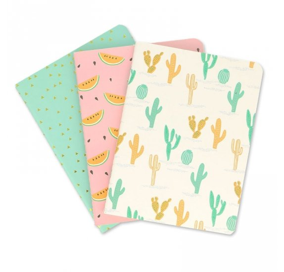 Lot de 3 carnets  A6 'Rico Desing - Paper Poetry' Tropical Spring