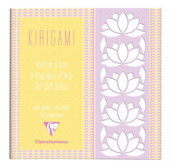 Bloc Kirigami 20x20 'Clairefontaine' Fleurs d'Asie 52 Pages