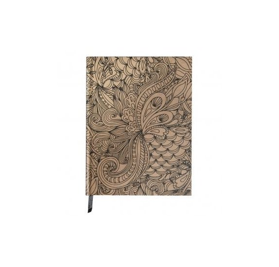 Carnet à colorier 'Rayher - Tangle' Notebook Jungle Kraft 16x21 cm 110g