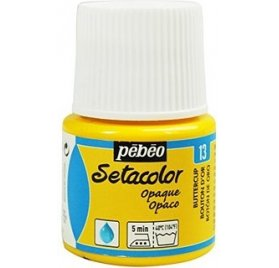 Pot de peinture textile 'Pébéo - Setacolor' Bouton d'or 45ml