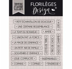Tampons Transparents 'Florilèges Design - Collection Clear 6' Mots d'enfance