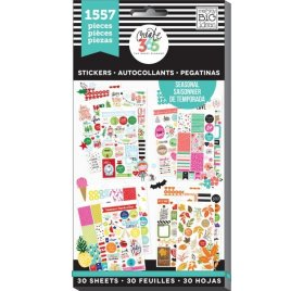 Bloc d'autocollants 'Me & My Big Ideas - The Happy Planner' Saisonnier Qté 1557