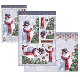 Kit Carte Découpage 'Hunkydory Crafts - The Joy of Christmas' Festive Friends
