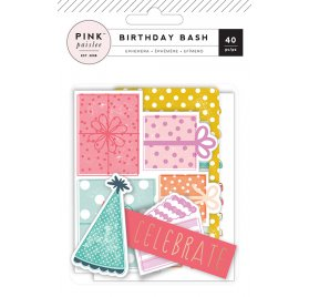 Die-cuts 'Pink Paislee - Birthday Bash' Ephemera Qté 40