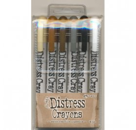 Lot de 6 crayons aquarellables 'Ranger - Distress Crayons' Set 3