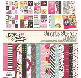 Assortiment 30x30 'Simple Stories - Love & Adore' Collection Kit