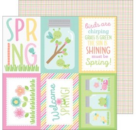 Papier double 30x30 'Doodlebug - Spring Things' Butterfly Net