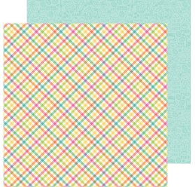 Papier double 30x30 'Doodlebug - Easter Express ' Chickie babies