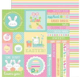 Papier double 30x30 'Doodlebug - Easter Express ' Easter Expess