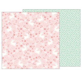 Papier double 30x30 'Pebbles - Lullaby' Baby Girl Posies