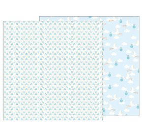 Papier double 30x30 'Pebbles - Lullaby' Delivering Baby Boy