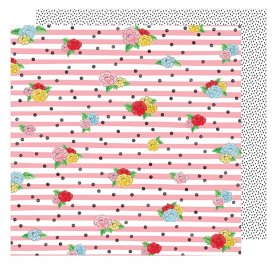 Papier double 30x30  'American Crafts - Little by Little' Seeing Magic
