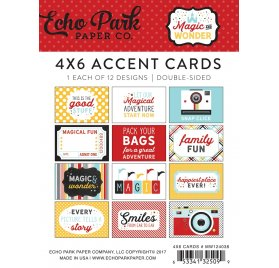 Assortiment de carte 'echo park - Magic and Wonder' 4X6 cards