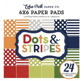 Assortiment 15X15 'Echo park - Dots and Stripes'  Little Girl