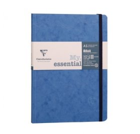 Carnet 14.8x21 cm 'Clairefontaine - Age Bag' Bleu 192 Pages à quadrillage pois 90 g/m²