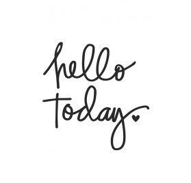 Décalcomanie pour organiseur 'Simple Stories - Carpe Diem Planner' Hello Today Noir