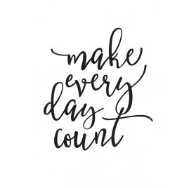 Grand décalcomanie pour organiseur 'Simple Stories - Carpe Diem Planner' Make Every Day Count Noir