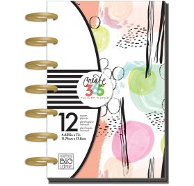 Mini Organiseur 'Me & My Big Ideas - The Happy Planner' Painterly Abstract (non daté)