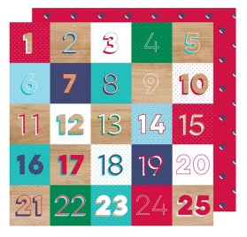 Papier double 30x30 'American Crafts - Glitter Girl' Countdown