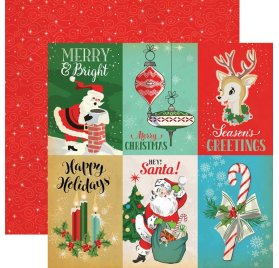 Papier double 30x30 'Carta Bella - A Very Merry Christmas' 4x6 Journaling Cards